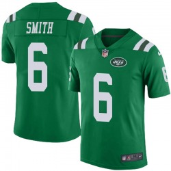 Limited Men's Jeff Smith New York Jets Nike Color Rush Jersey - Green