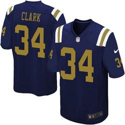 Limited Men's Jeremy Clark New York Jets Nike Alternate Vapor Untouchable Jersey - Navy Blue