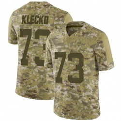 Limited Men's Joe Klecko New York Jets Nike 2018 Salute to Service Jersey - Camo