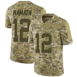 Limited Men's Joe Namath New York Jets Nike 2018 Salute to Service Jersey - Camo