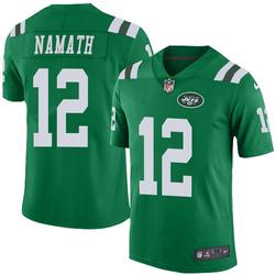 Limited Men's Joe Namath New York Jets Nike Color Rush Jersey - Green
