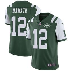 Limited Men's Joe Namath New York Jets Nike Team Color Vapor Untouchable Jersey - Green