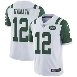 Limited Men's Joe Namath New York Jets Nike Vapor Untouchable Jersey - White