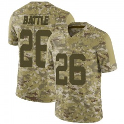 Limited Men's John Battle New York Jets Nike 2018 Salute to Service Jersey - Camo