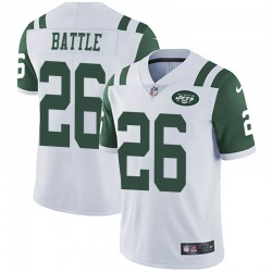 Limited Men's John Battle New York Jets Nike Vapor Untouchable Jersey - White