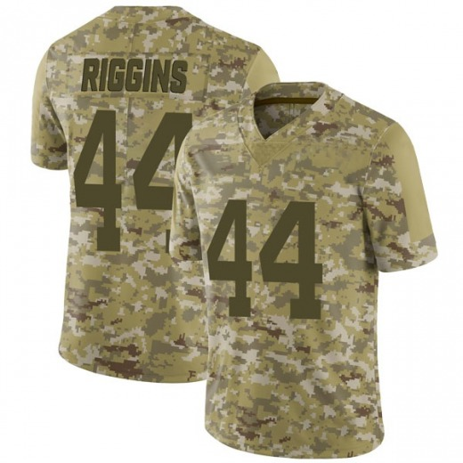 Limited Men's John Riggins New York Jets Nike 2018 Salute to Service Jersey - Camo