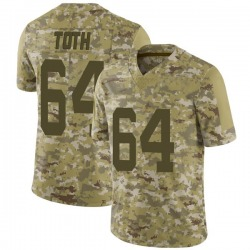 Limited Men's Jon Toth New York Jets Nike 2018 Salute to Service Jersey - Camo