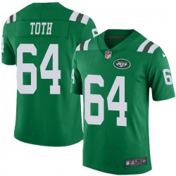 Limited Men's Jon Toth New York Jets Nike Color Rush Jersey - Green