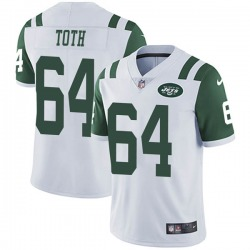 Limited Men's Jon Toth New York Jets Nike Vapor Untouchable Jersey - White