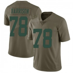 Limited Men's Jonotthan Harrison New York Jets Nike 2017 Salute to Service Jersey - Green