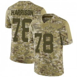 Limited Men's Jonotthan Harrison New York Jets Nike 2018 Salute to Service Jersey - Camo