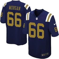 Limited Men's Jordan Morgan New York Jets Nike Alternate Vapor Untouchable Jersey - Navy Blue