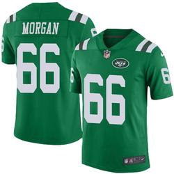 Limited Men's Jordan Morgan New York Jets Nike Color Rush Jersey - Green