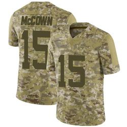 Limited Men's Josh McCown New York Jets Nike 2018 Salute to Service Jersey - Camo