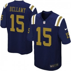 Limited Men's Joshua Bellamy New York Jets Nike Alternate Vapor Untouchable Jersey - Navy Blue