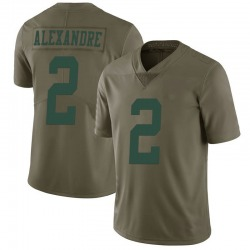 Limited Men's Justin Alexandre New York Jets Nike 2017 Salute to Service Jersey - Green