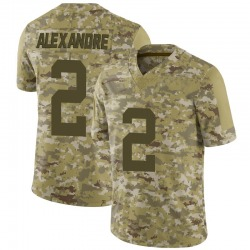 Limited Men's Justin Alexandre New York Jets Nike 2018 Salute to Service Jersey - Camo
