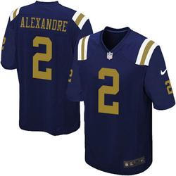 Limited Men's Justin Alexandre New York Jets Nike Alternate Vapor Untouchable Jersey - Navy Blue