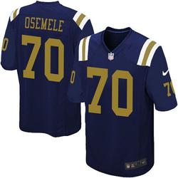 Limited Men's Kelechi Osemele New York Jets Nike Alternate Vapor Untouchable Jersey - Navy Blue