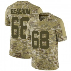 Limited Men's Kelvin Beachum New York Jets Nike 2018 Salute to Service Jersey - Camo