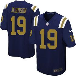 Limited Men's Keyshawn Johnson New York Jets Nike Alternate Jersey - Navy Blue
