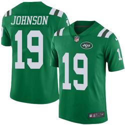Limited Men's Keyshawn Johnson New York Jets Nike Color Rush Jersey - Green