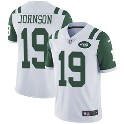 Limited Men's Keyshawn Johnson New York Jets Nike Jersey - White