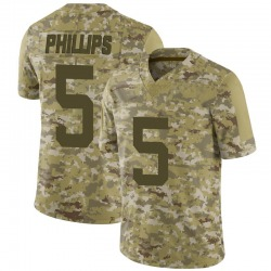 Limited Men's Kyle Phillips New York Jets Nike 2018 Salute to Service Jersey - Camo