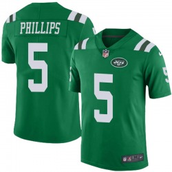 Limited Men's Kyle Phillips New York Jets Nike Color Rush Jersey - Green