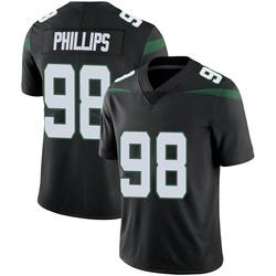 Limited Men's Kyle Phillips New York Jets Nike Vapor Jersey - Stealth Black