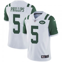 Limited Men's Kyle Phillips New York Jets Nike Vapor Untouchable Jersey - White