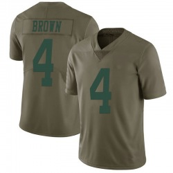 Limited Men's Kyron Brown New York Jets Nike 2017 Salute to Service Jersey - Green