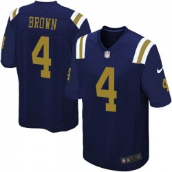 Limited Men's Kyron Brown New York Jets Nike Alternate Vapor Untouchable Jersey - Navy Blue