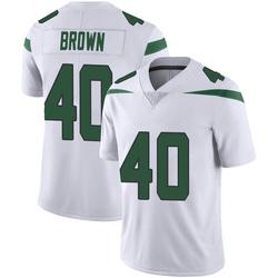 Limited Men's Kyron Brown New York Jets Nike Vapor Jersey - Spotlight White