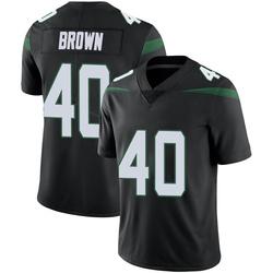 Limited Men's Kyron Brown New York Jets Nike Vapor Jersey - Stealth Black