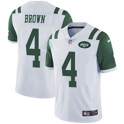 Limited Men's Kyron Brown New York Jets Nike Vapor Untouchable Jersey - White