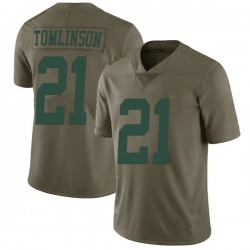 Limited Men's LaDainian Tomlinson New York Jets Nike 2017 Salute to Service Jersey - Green