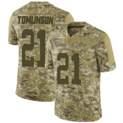 Limited Men's LaDainian Tomlinson New York Jets Nike 2018 Salute to Service Jersey - Camo