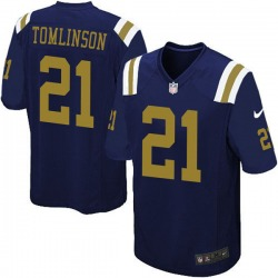 Limited Men's LaDainian Tomlinson New York Jets Nike Alternate Vapor Untouchable Jersey - Navy Blue