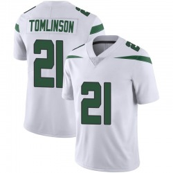 Limited Men's LaDainian Tomlinson New York Jets Nike Vapor Jersey - Spotlight White