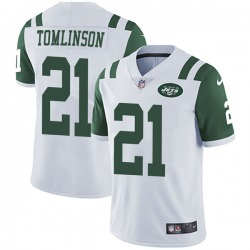 Limited Men's LaDainian Tomlinson New York Jets Nike Vapor Untouchable Jersey - White