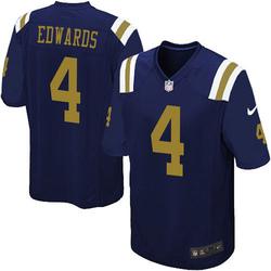 Limited Men's Lachlan Edwards New York Jets Nike Alternate Vapor Untouchable Jersey - Navy Blue