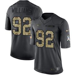 Limited Men's Leonard Williams New York Jets Nike 2016 Salute to Service Jersey - Black
