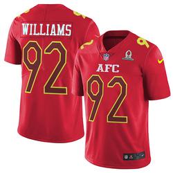 Limited Men's Leonard Williams New York Jets Nike 2017 Pro Bowl Jersey - Red