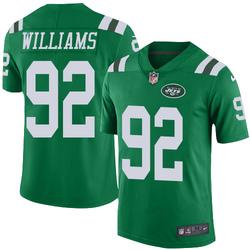 Limited Men's Leonard Williams New York Jets Nike Color Rush Jersey - Green