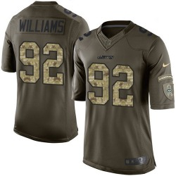 Limited Men's Leonard Williams New York Jets Nike Salute to Service Jersey - Green