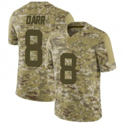 Limited Men's Matt Darr New York Jets Nike 2018 Salute to Service Jersey - Camo