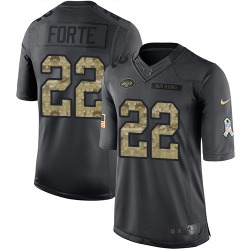 Limited Men's Matt Forte New York Jets Nike 2016 Salute to Service Jersey - Black