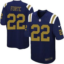 Limited Men's Matt Forte New York Jets Nike Alternate Jersey - Navy Blue