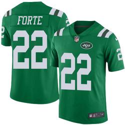 Limited Men's Matt Forte New York Jets Nike Color Rush Jersey - Green